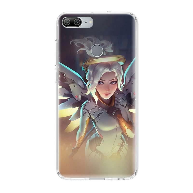 Overwatchs OW D VA Printing Protect Phone Case for Huawei Honor 8X 8S 7A 7S 9 10 Lite 8A 20i 8S V20 Y5 Y6 Y7 Y9 2019 Cover Coque in Half wrapped Cases from Cellphones Telecommunications