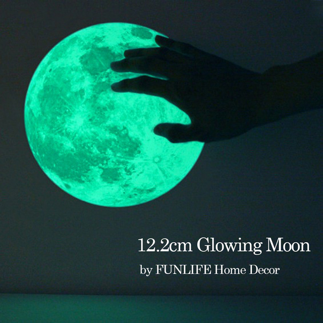 listed in stock 12.2cm 4.8 in World Planet Moon Poster Glow in The Dark Luminous Wall Decals for Kids Room Decoration fltb1375