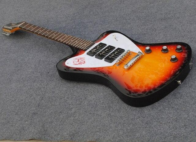 Sunburst Color Thunder Bird Guitar3 P90 Pickups Firebird Electric