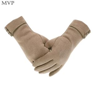 Gloves Outdoor Wrist Gray Soft