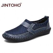 JINTOHO גדול גודל קיץ גברים נעליים יומיומיות אופנה לנשימה גברים נעליים מזדמנים זכר נעלי מותג גברים אופנה סניקרס זול Shose