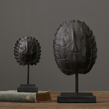handicraft resin turtle shell fossils offbeat decoration for study room Jurassic turtle shell private museum furnishing decor