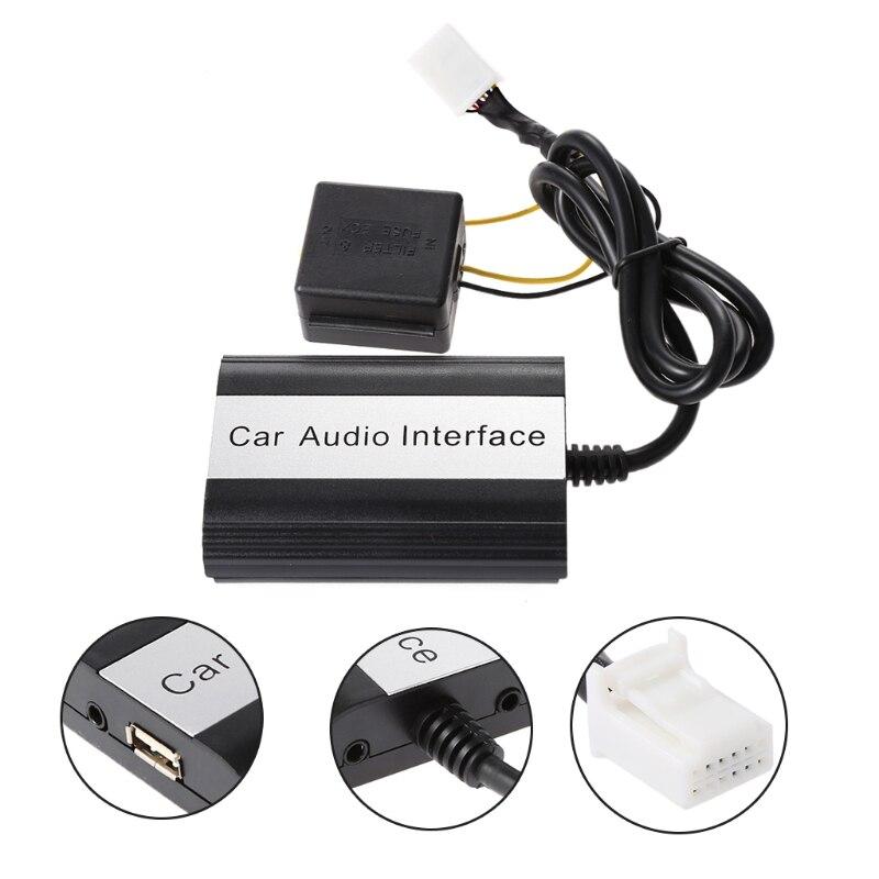 OOTDTY nouvelle voiture Bluetooth Kits MP3 AUX adaptateur Interface pour Toyota Lexus Scion 2003-2011 12 pinping Support