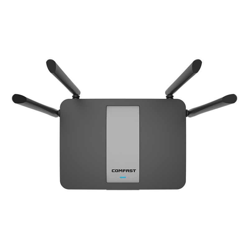 Двухдиапазонный 5 ГГц 1200 Мбит/с беспроводной wifi маршрутизатор 128 М DDR двухъядерный процессор 1WAN + 4LAN гигабитные порты 802.11AC 4 * Внешний роутер с антенной