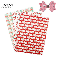 JOJO BOWS 22*30cm Thin Glitter Fabric For Craft Printed Sheet Needlework Clothing Sewing Material Home Textile DIY Hair Bows