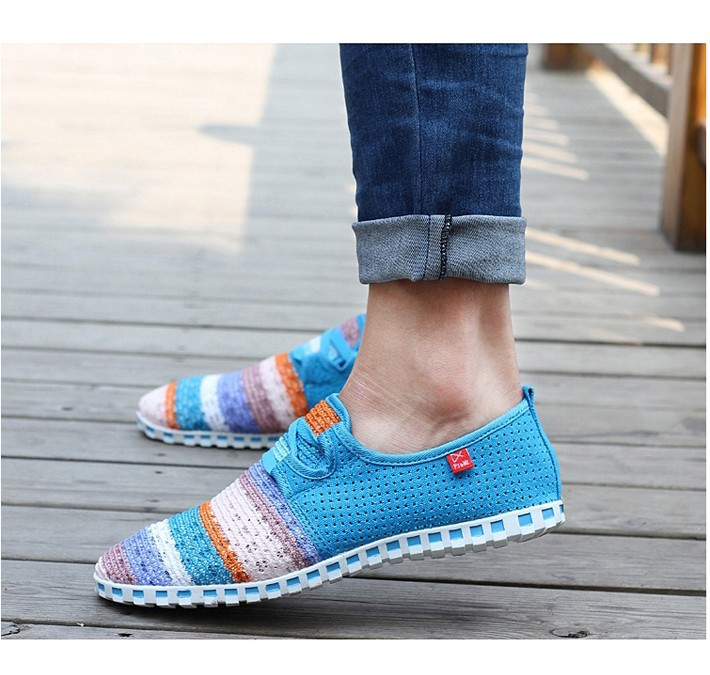 2019 Summer Breathable Mesh Shoes Men Beach Couple Shoes Rainbow Color Comfort Slip On Flats For Man Size 36-45 KD852-8672019 Summer Breathable Mesh Shoes Men Beach Couple Shoes Rainbow Color Comfort Slip On Flats For Man Size 36-45 KD852-867