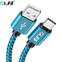 OLAF 3m USB Typ C Kabel UBS-C 2A Schnelle Lade Typ-C Kabel Sync Daten Kabel für Samsung hinweis 8 9/S8 Nexus 6P 5X Nintendo Schalter