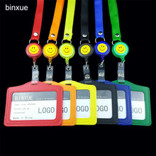 BINXUE Cover Card & ID Holders,Work card identification tag badge Can hang, you can clip Easy to buckle width 1.5 cm