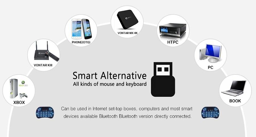 Venemaa / Inglise 2.4GHz traadita taustvalgustuse klaviatuur hiire - Arvuti välisseadmed - Foto 6