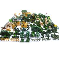 200pcs/ Set Plastic Military Playset 9cm Soldier Army Figures Model Toys Sets For Children Boys Adult