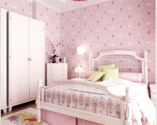 beibehang Children cute boy girl bedroom strawberry cartoon non - woven wallpaper papel de parede para quarto