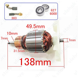 220 240V armatura wirnika wymień dla MAKITA 9404 9920 9903 szlifierka taśmowa akcesoria do elektronarzędzi elektronarzędzia części w Akcesoria do elektronarzędzi od Narzędzia na