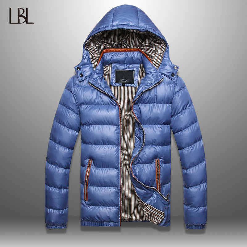 LBL Casual Mens Parkas Winter Slim Fit 2019 Outwear Windbreaker Jackets Men Streetwear Warm Jacket New Arrival Overcoat Man XXXL