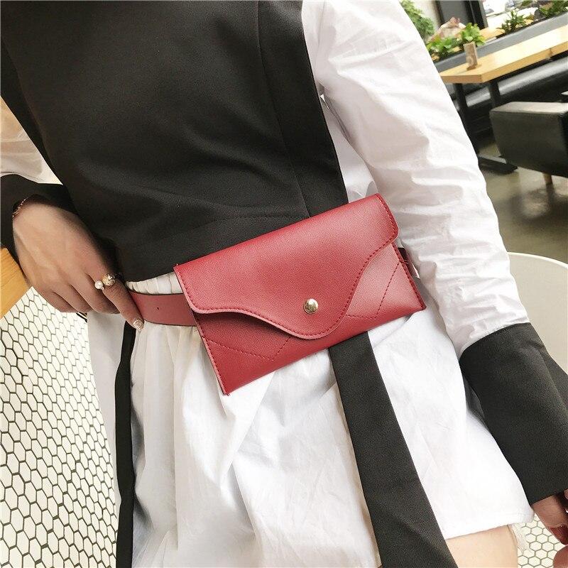 2018 Fashion Pu Leather Women Waist Bag Belt Female Money Phone Waist Packs Fanny Pack for Women Waistbag Bum Pouch Coin Purse цена 2017