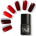 FOCALLURE Soak Off Bling Red Color Gel UV LED Base Top Coat Shimmer Nail Art Wonderful Nail Polish 12ML