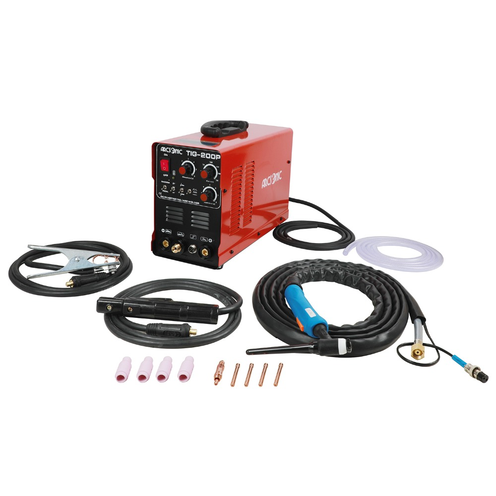TIG200P Pluse 200 Amps ARC TIG Pulse TIG Welding Machine Multi Function TIG200P Portable Inverter TIG Welder Argon welding 4 pcs lot wse tig inverter argon arc welding machine repair common four feet potentiometer ra113n b104 100 k ohms