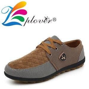 Image 2 - Mężczyźni buty moda płócienne buty dla mężczyzn obuwie letnie oddychające żółte Comfortbale espadryle trampki płaskie buty męskie duże rozmiary
