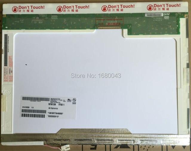Free Shipping B141XG09 V.4 V.2 B141XG05 B141XG08 LTN141XB-L02 LTN141XB-L04 QD14XL07 30PIN LCD SCREEN