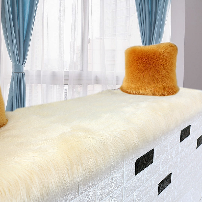 Thicken Bedroom Long Yoga Carpet Soft Plush Bedside