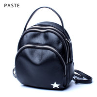2017 Multifunction Small Women S Backpack Genuine Leather Girl School Bag With 3 Straps Female Bagpack