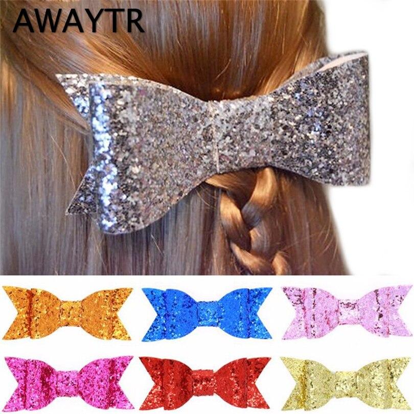 2 pcs lot awaytr sequins hair bows