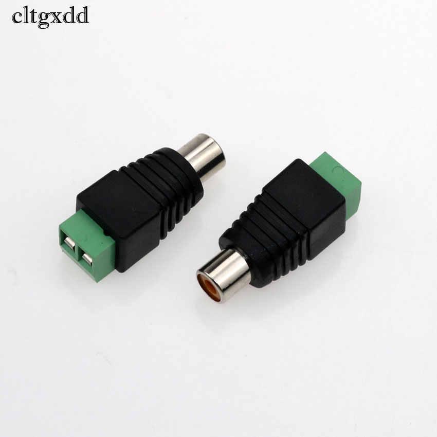 Cltgxdd CCTV RCA Konektor Mendongkrak Steker Wanita KE Sekrup Terminal Block Adaptor Solderless Jenis untuk Pembicara Audio Video Kabel Kabel