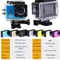 OOTDTY 4K Wi Fi Sports Action Camera Ultra HD Waterproof DV Camcorder 170 Degree Wide Angle
