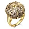Anéis do partido do ouro/ródio chapeado com zircão Cúbico Anel jóias da moda transferência gratuita Full size #5, #6, #7, #8, #9, #10