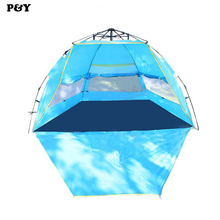 Outdoor automatic Pop up Camping Tent 2-3 People Waterproof UV Summer Beach Shelter Tents Park tourism Travel 245*245*145CM