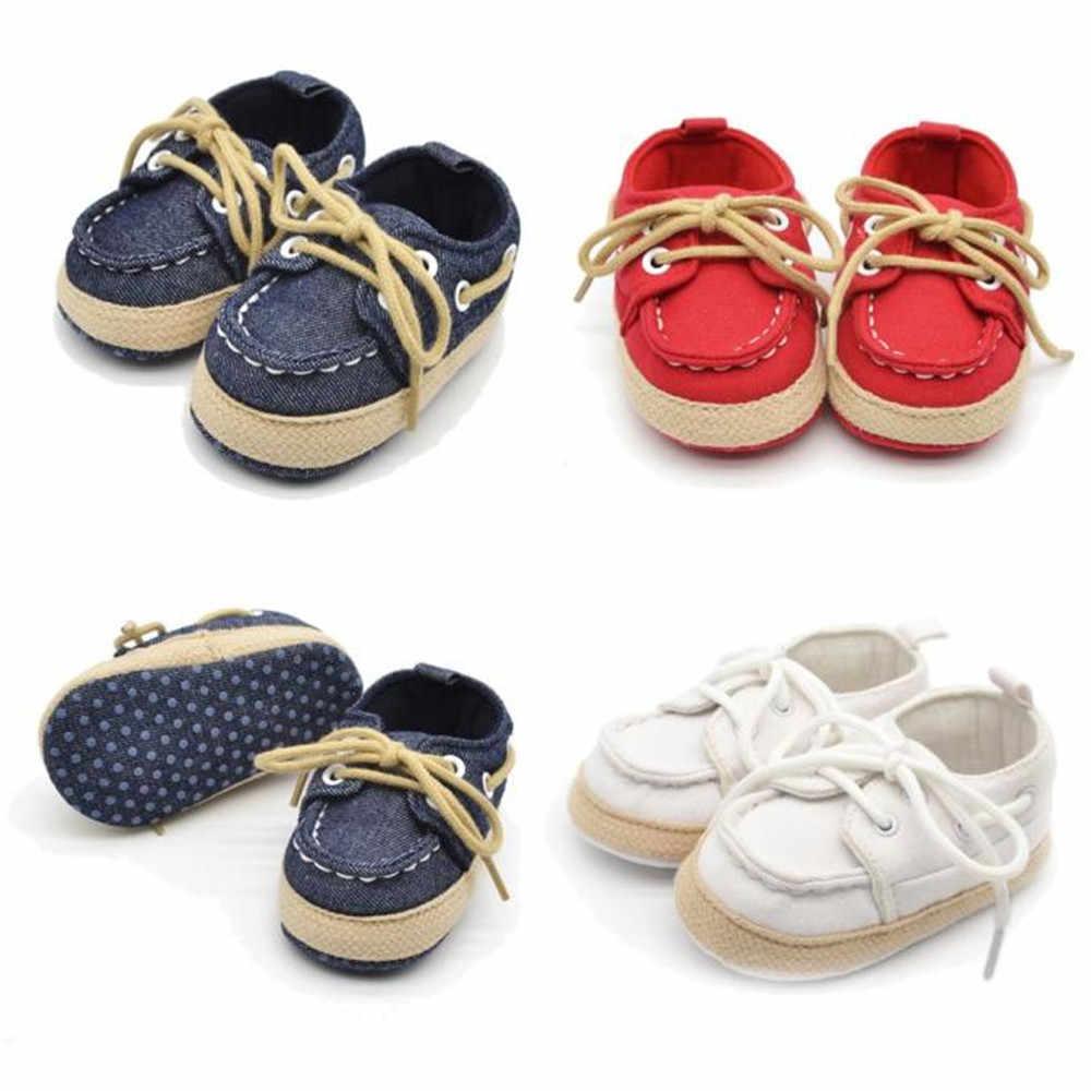 LONSANT 2018 moda infantil peaje bebé chico niña suela suave bebé niños niñas zapatillas preandador Niño Zapatos de lazo
