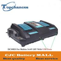 Двойной USB Порты и разъёмы быстрая Выход Мощность инструмент Батарея Зарядное устройство для Makita 14,4 V 18 V BL1415 BL1430 BL1830 BL1440