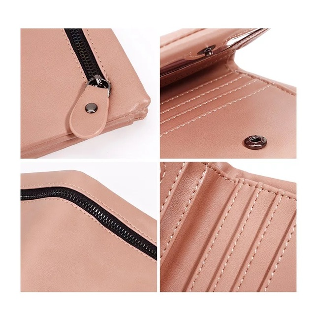 Stylish Compact Square Leather Women's Wallet