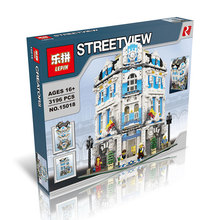 LEPIN 15018 3196pcs Creator City Series Sunshine hotel  Model Building Kits Minifigures Brick Toy Compatible Christmas gifts