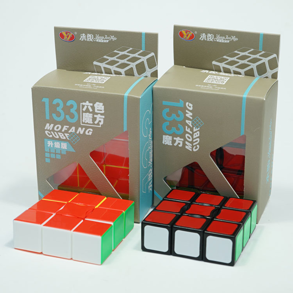 YJ Super Floppy 1x3x3 Magic Cube Black/Stickerless YongJun 133 Speed Puzzle Cubo Magico Learning Education Toys For Children