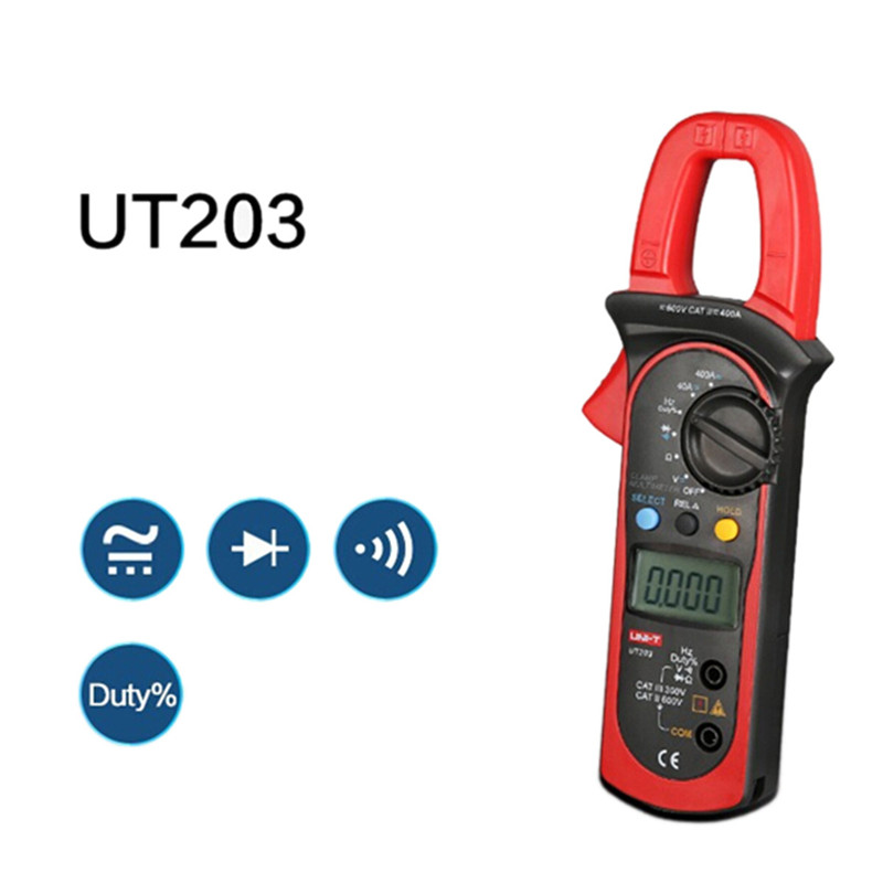 UNI-T UT203 Digital Clamp Multimeter current clamp ac dc 3999 Count 400a voltage Resistance tester LCD Auto-Range clamp meter uni t ut203 ut 203 digital clamp meter multimeter ohm dmm dc ac current voltmeter 400a