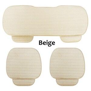 Image 3 - Universa protetor de assento de carro almofada da esteira tampas de assento de automóveis frente para trás do assento de automóvel capa quente veludo almofada do assento de carro
