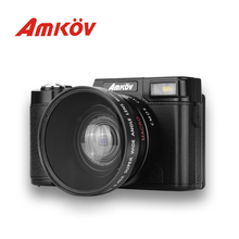 AMKOV CD – R2 CDR2 Digital Camera Video Camcorder with 3 inch TFT Screen UV Filter 0.45X Super Wide Angle Lens Photo Cameras