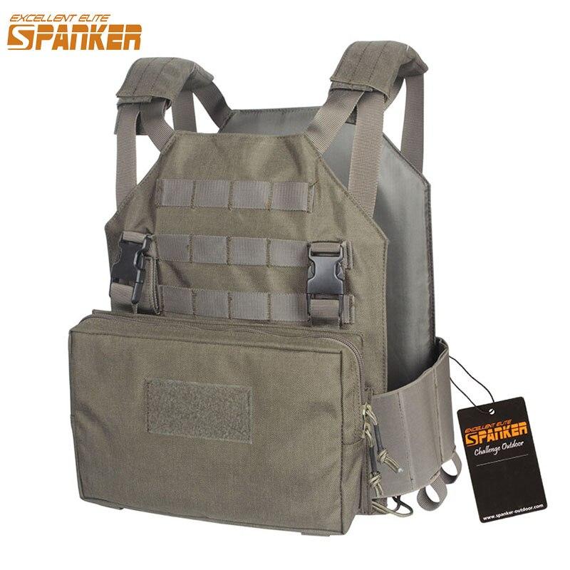 EXCELLENT gilet tactique extérieur ELITE SPANKER plaque transporteur AMP gilet militaire pour hommes équipement de chasse Camouflage Jungle