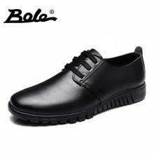 БОЛЕ Весна Дизайнер Суперзвезда Обувь Из Натуральной Кожи Мужчин Открытый Моды Ходьба износостойкие Мужчины Обувь Зашнуровать Плоские Мужчины обувь
