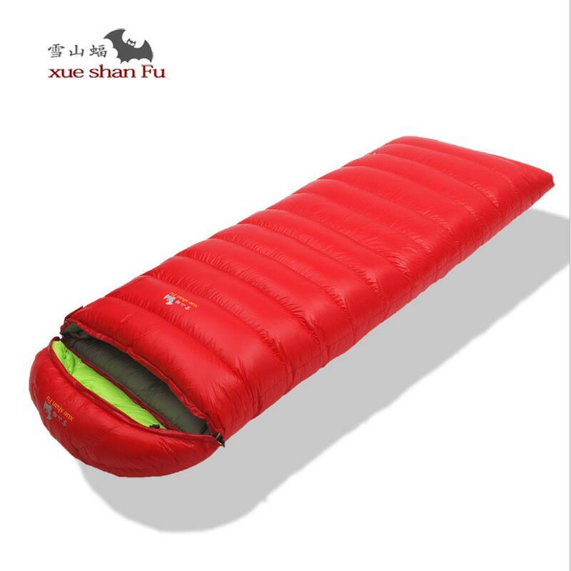 ФОТО Outdoor climbing ultralight down sleeping bag tourist   90% white duck Fill 400G 600G 800G 1000G Envelope sleeping bag