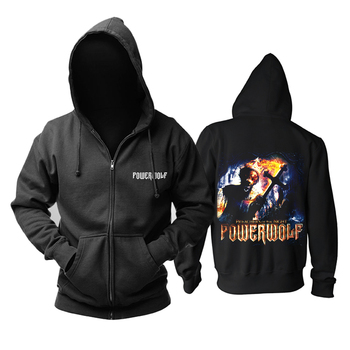 Bloodhoof Powerwolf death metal black new zipper  Hoodie Asian Size