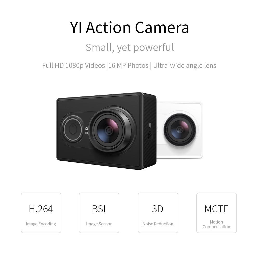 YI Action Camera 1080P Lime Green White Black 16MP Full HD 155 degree Ultra-wide Angle Sports Mini Camera 1