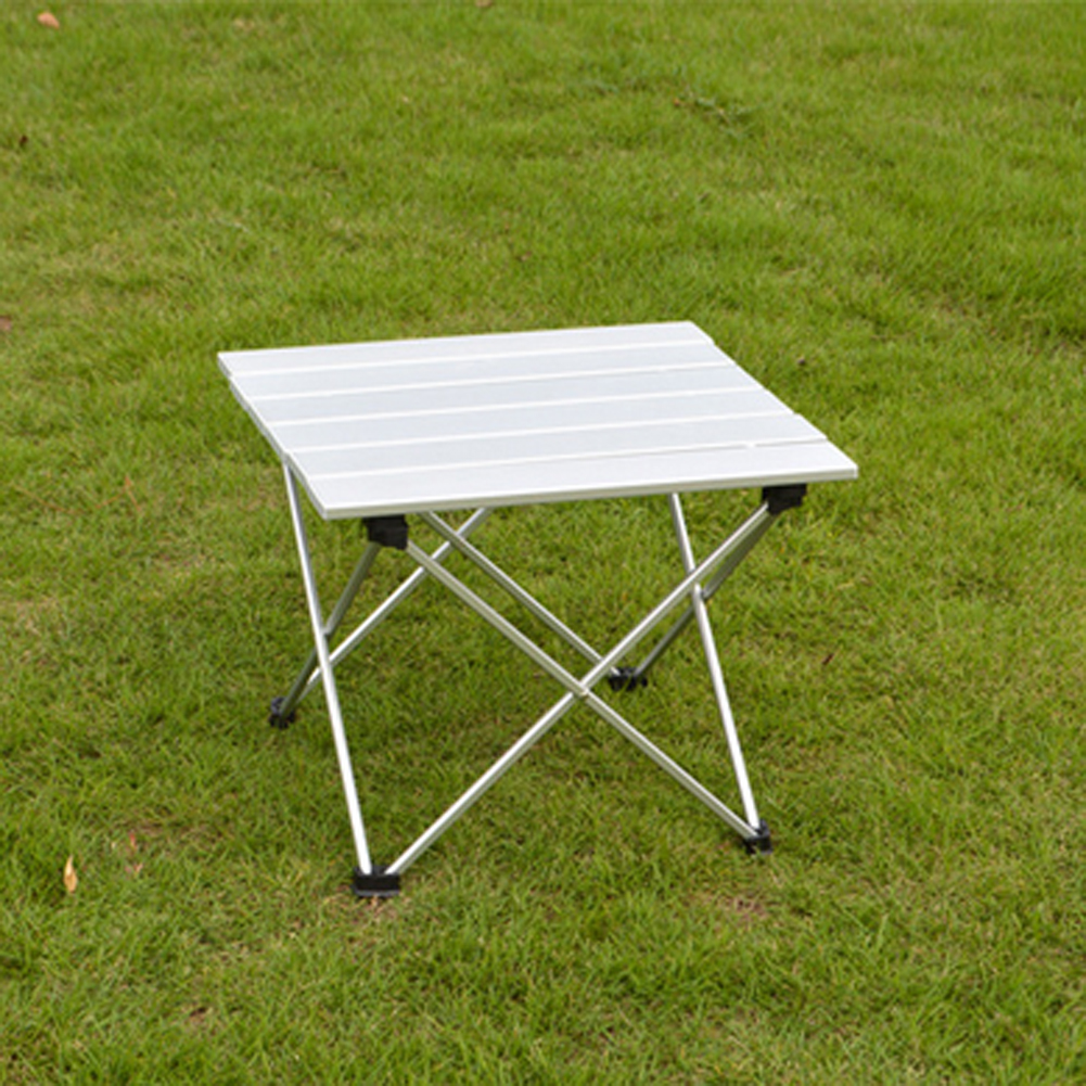 2 size portable folding camping picnic aluminum rolling - Camping table adjustable height ...