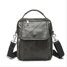 Cowhide Men's Messenger Bags Leather Men's Crossbody bag Men single shoulder bag