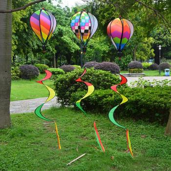 Hot 1PC Striped Hot Air Balloon For Children Toy Random Color Gift Wind Spinner Drop Shipping #0705