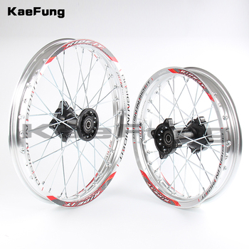"Silver 12mm 15mm Front 1.40-14"" inch Rear 1.85-12"" inch aluminium Alloy Wheel Rim For 160cc 150CC Dirt Pit bike 12 14 inch wheel"