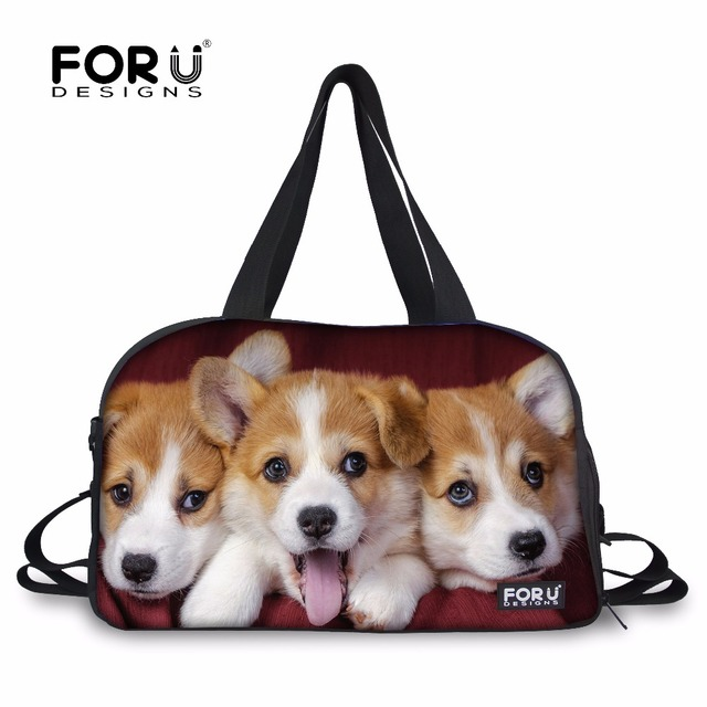 FORUDESIGNS Pembroke Welsh Corgi Travel Bag for Women Girls Luggage Bags Cute Large Duffle Hand Carry Baggage New Duffle Hot