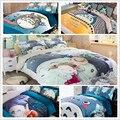 Totoro azul de impresión reactiva juegos de cama twin queen king size edredón/edredón/edredón cubre fundas de almohadas para niños decoración para el hogar