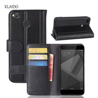 KLAIDO Genuine Leather Mobile Phone Case For Xiaomi Redmi 4X Case 5 0 Cover Silicone TPU