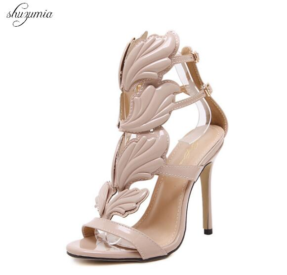 High Quality Women Shoes Fashion Summer Sandals Winged Fine Heel Sandals High-heeled Shoes 3 style Female Buckle Strap Shoes 2015 summer women s high heeled shoes fish head shoes korea princess waterproof fine with sexy high heeled sandals